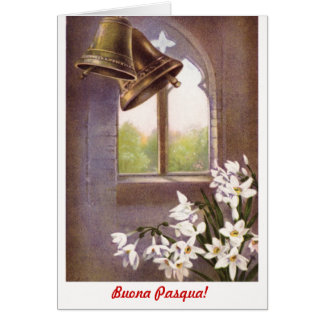 Classic formal Buona Pasqua  (Italian) Card