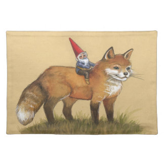 Classic Fox and Gnome Illustrated Placemat