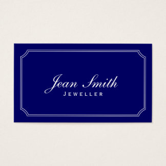 Classic Frame Dark Blue Jewellery Business Card