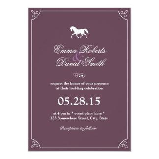 Classic Frame Running Horse Wedding Invitations