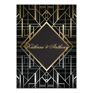Classic Gatsby Deco Wedding Invitation G2