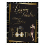 Classic Gatsby Deco Wedding Photo Booth Poster