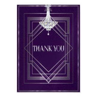 Classic Gatsby Deco Wedding ThankYou Manuela25003a Card