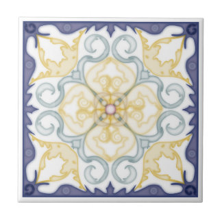 Classic Geometric 4 Corner Mirror Design-Trivet 2 Tile