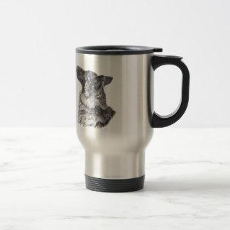 Classic German Shepherd profile Portrait Drawing Travel Mug