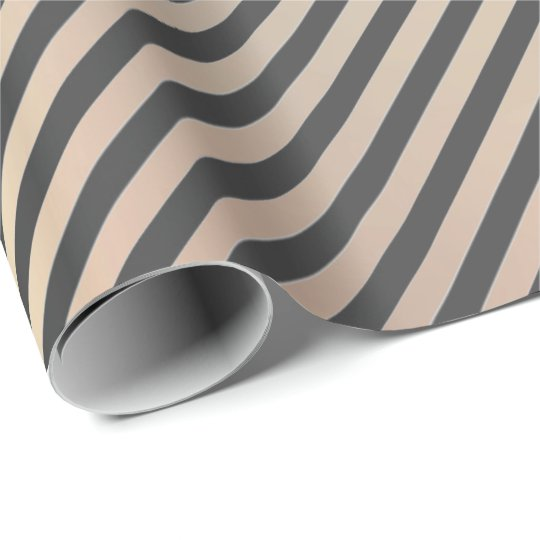 Classic Gold Blush Grey Champaign Stripes Lines Wrapping Paper