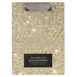 Classic Gold Glitter Personalized Clipboard