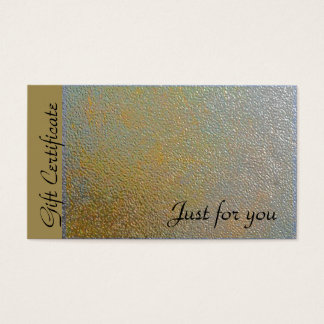 Classic Gold Silver Metal Look   Gift Certificate