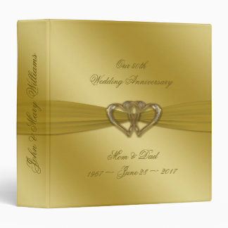 "Classic Golden 50th Anniversary 1.5"" Binder"