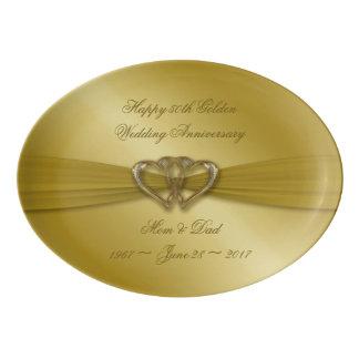 Classic Golden 50th Anniversary Platter