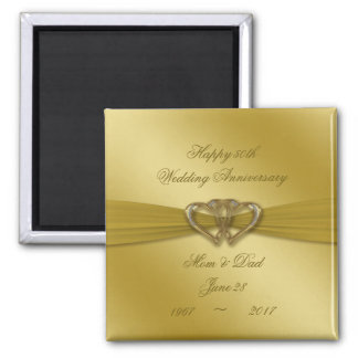 Classic Golden 50th Wedding Anniversary Magnet