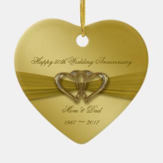 Classic Golden 50th Wedding Anniversary Ornament