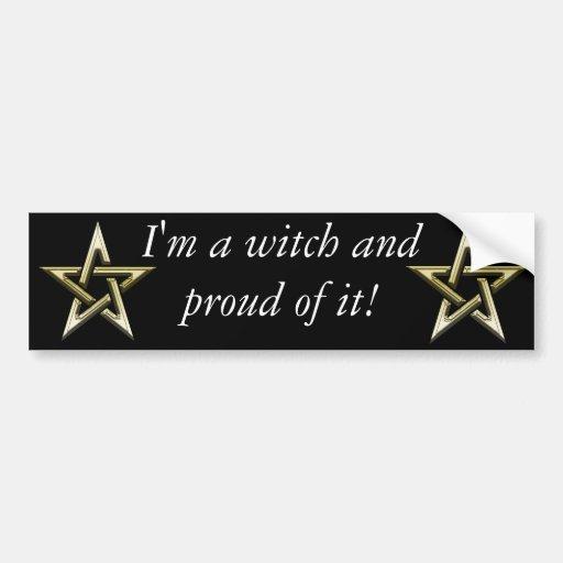 Classic Golden Pentagram Bumper Sticker
