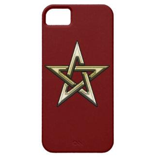 Classic Golden Pentagram iPhone 5 Case