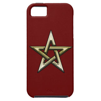 Classic Golden Pentagram iPhone 5 Covers