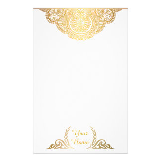 Classic Golden Personalized Stationery