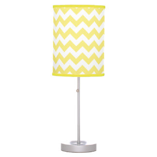 Classic Golden Yellow Chevron Pattern Table Lamp