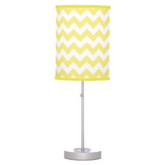 Classic Golden Yellow Chevron Pattern Table Lamp