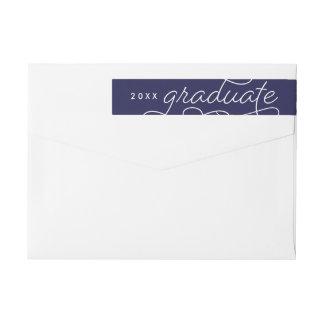 Classic Graduate Wrap Around Return Address Wraparound Return Address Label