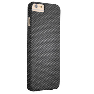 Classic Graphite Fiber Texture Barely There iPhone 6 Plus Case