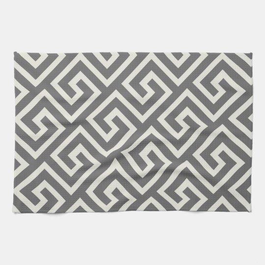 Classic Greek Key Repeating Pattern Kitchen Towel