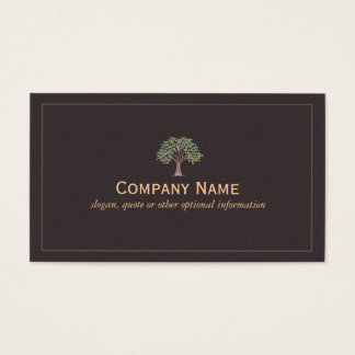 Classic Green Leaves Tree Business Card