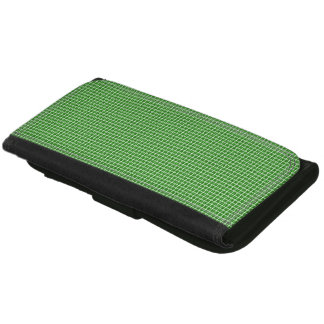 Classic-Green-Plaid-Wallet's-Multi-Styles Leather Wallet