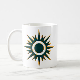 Classic Green Sunburst Coffee Mug
