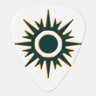 Classic Green Sunburst Guitar Pick