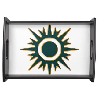 Classic Green Sunburst Serving Tray