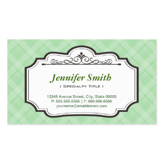 Classic Green Twill Pattern - Simple Elegant Pack Of Standard Business Cards