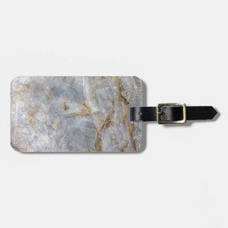 Classic Grey Quartz Crystal Luggage Tag