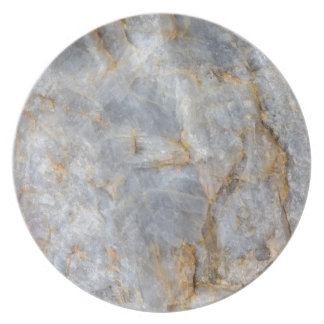 Classic Grey Quartz Crystal Party Plate