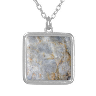 Classic Grey Quartz Crystal Silver Plated Necklace