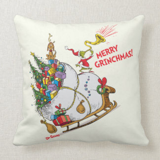 Classic Grinch | Merry Grinchmas! Throw Pillow