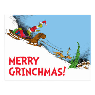 Classic Grinch | The Grinch and Reindeer Max Postcard