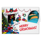 Classic Grinch | The Grinch in Chimney Card