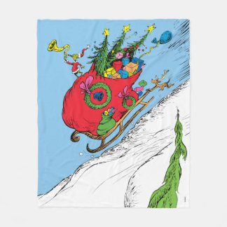 Classic Grinch | The Grinch & Max Runaway Sleigh Fleece Blanket