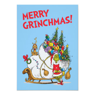 Classic Grinch | The Grinch & Max with Sleigh 2 Card