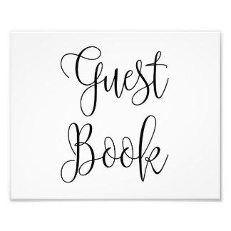 Classic guest book sign. Modern wedding poster Art Photo