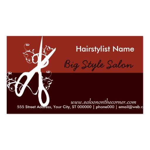 Classic hair stylist salon spa double sided standard for Salon business card templates