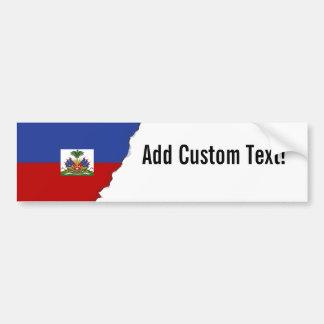 Classic Haitian Flag Bumper Sticker
