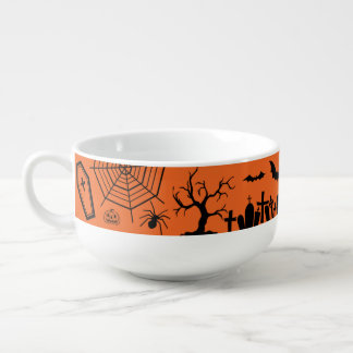 Classic Halloween Collage Soup Mug