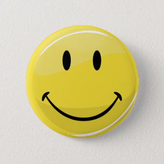 Classic Happy Face 2 Inch Round Button