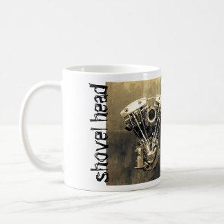 Classic Harley Davidson Shovelhead Classic White Coffee Mug