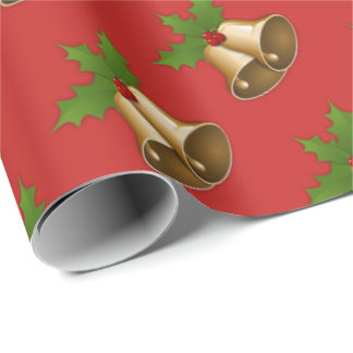 Classic Holiday Bells Wrapping Paper