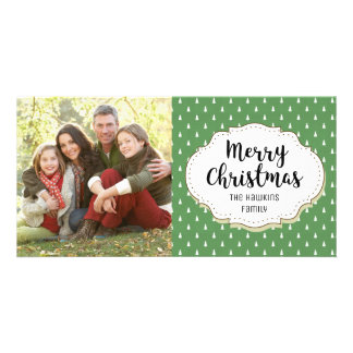 Classic Holiday Trees Christmas Picture Photo Card