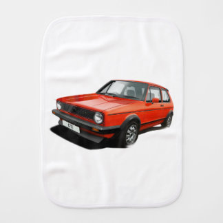 Classic hot hatch burp cloth