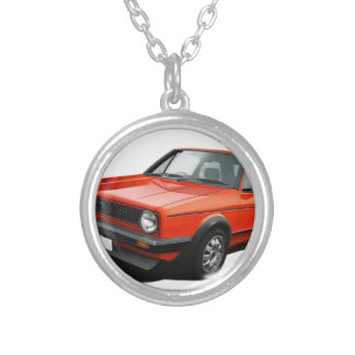 Classic hot hatch silver plated necklace