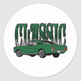 Classic Hotrod Gifts Classic Round Sticker